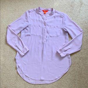 Joe Fresh // Button Down Long Lilac Blouse XS